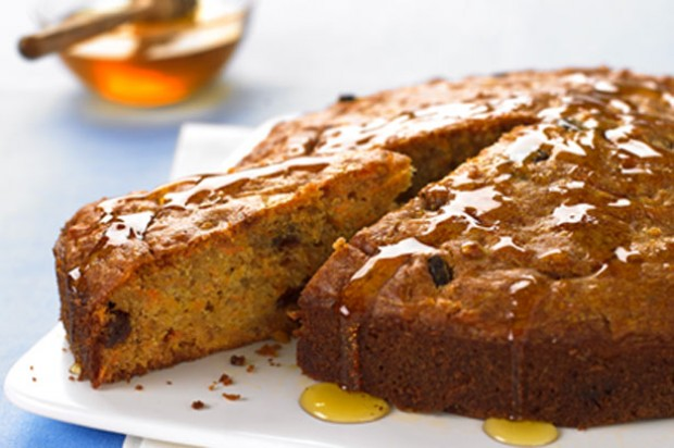Carrot honey raisin cake