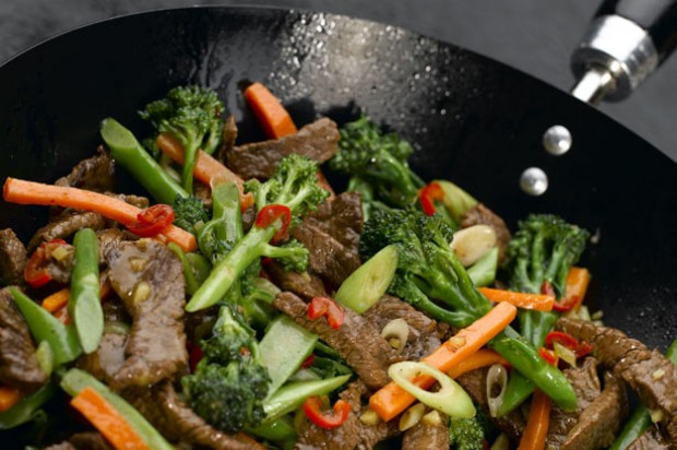 Tenderstem broccoli and chilli beef stirfry
