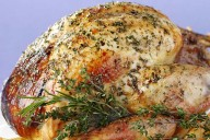 Lemon roast turkey