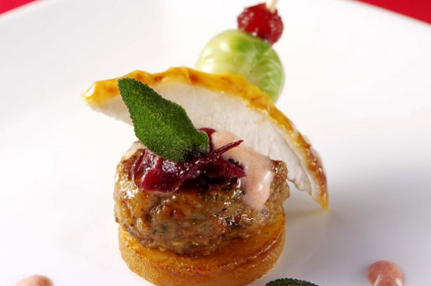World 39 s smallest christmas dinner recipe goodtoknow for Canape ideas for dinner party