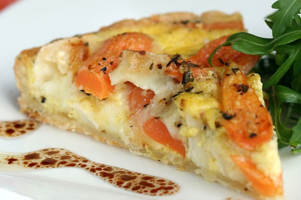Carrot and goat's cheese tart recipe