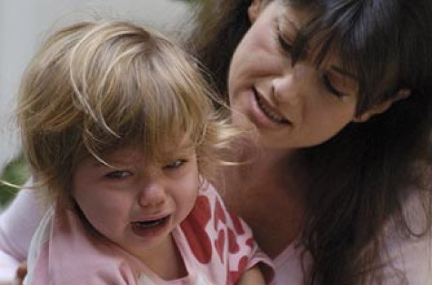A toddler having a tantrum