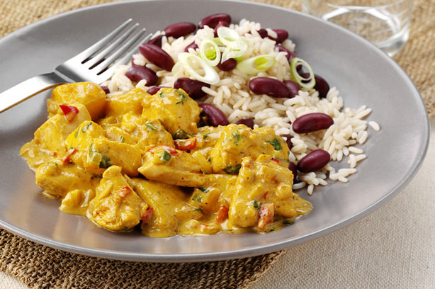 Caribbean chicken curry with rice and peas recipe - goodtoknow