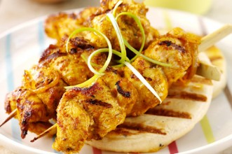 Chicken korma kebabs