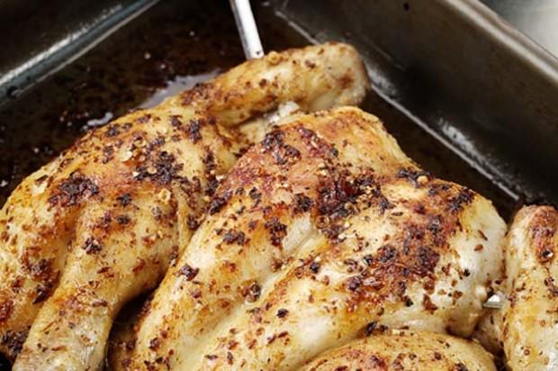 Spiced chicken with salsa