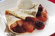 Blackberry and apple pancakes