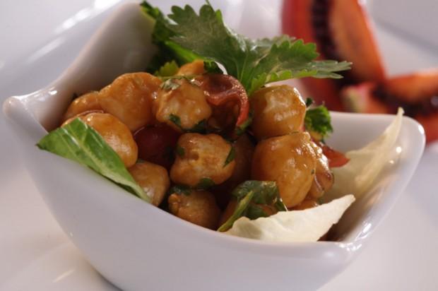 Chickpea and coriander salad
