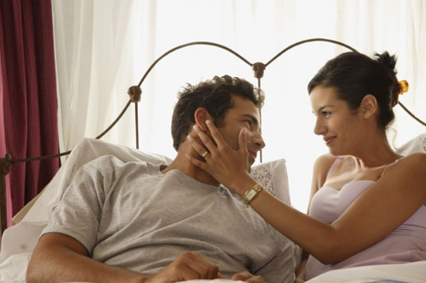 Relationships couple in bed