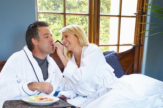 Relationships breakfast in bed couple