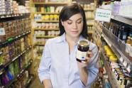 Woman-shopping-looking-at-food-label