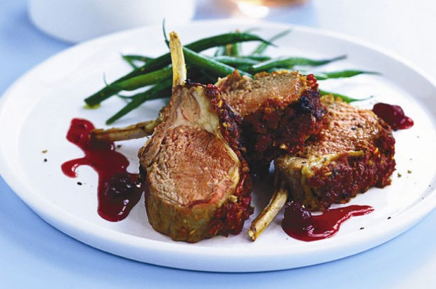 Thyme-crusted rack of lamb