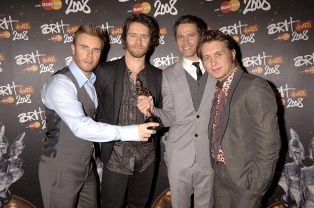 Take That at the Brit Awards after winning two awards_Rex