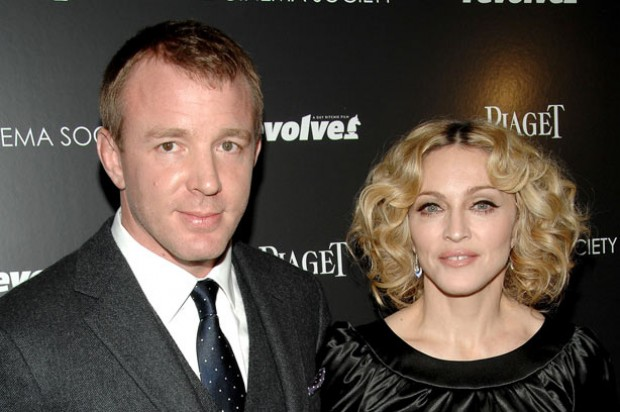 Madonna and Guy Ritchie at an award ceremony