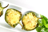Gubbeen stuffed green peppers