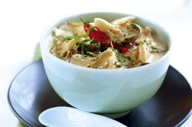 Coconut and chicken soup