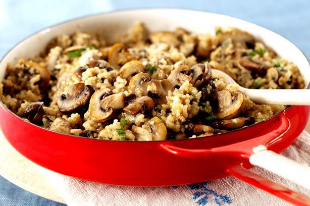 Cream quinoa mushroom risotto recipe - goodtoknow