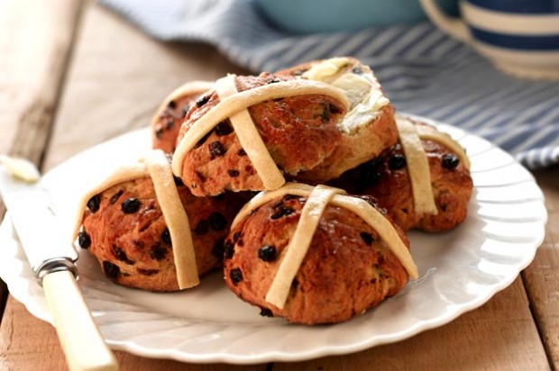 Spicy vegan hot cross buns