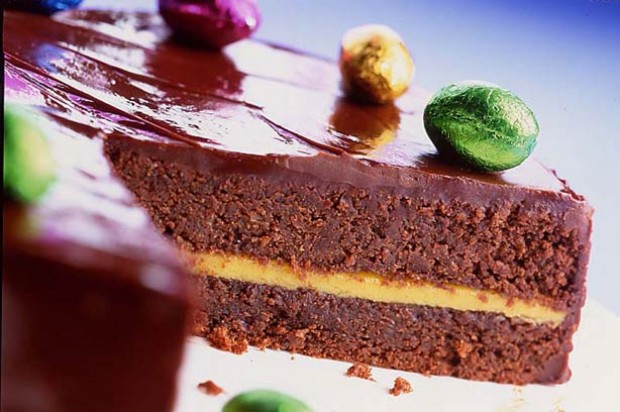 Easter chocolate torte