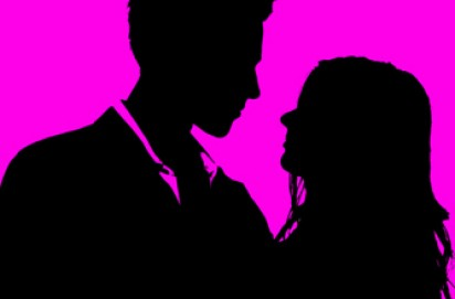 Silhouette of a couple together