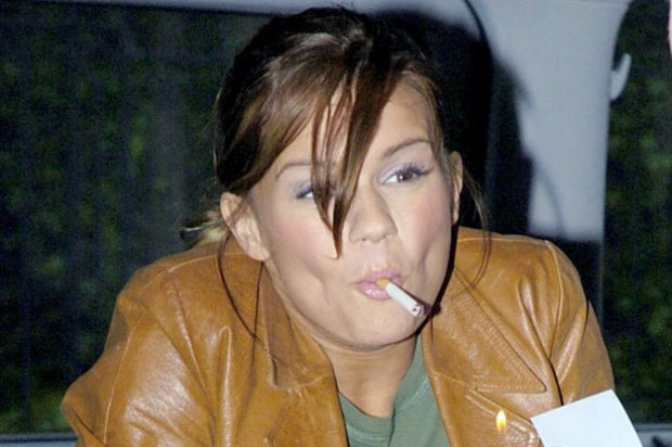 Kerry Katona smoking_rex