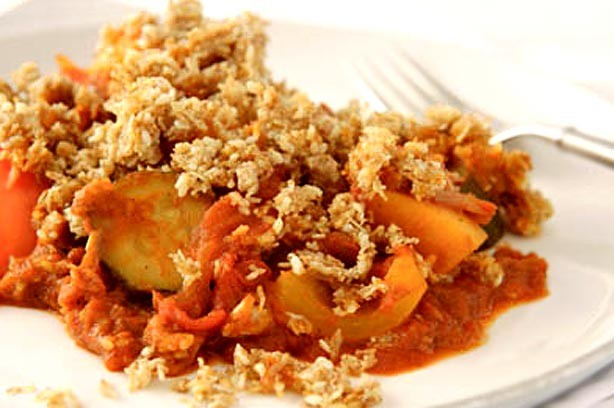 Tana Ramsay's Morrocan vegetable crumble