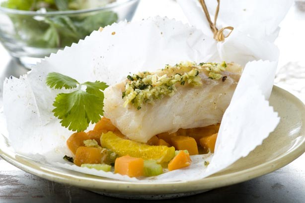 Cod with ginger and sweet potato