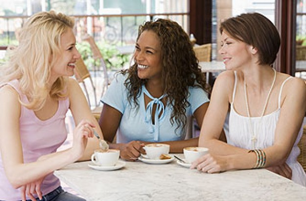 Three women enjoying a coffee together