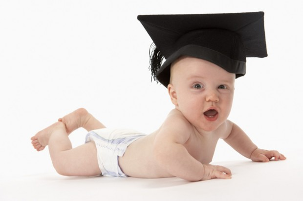 Baby in mortar board