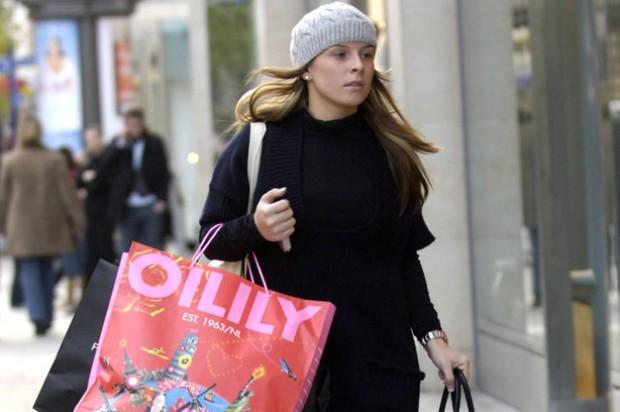 Coleen McLoughlin shopping
