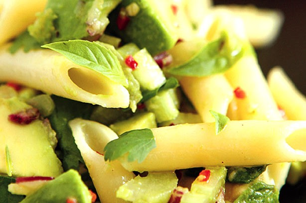 Avocado and pasta salad