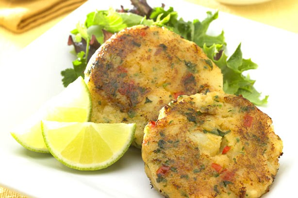 Chilli potato cakes