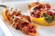 Light and low baked peppers