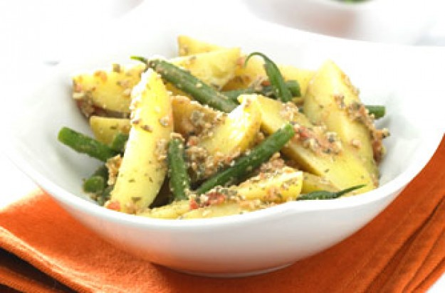 South American potato and bean salad