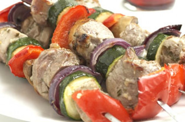 Honey and rosemary kebabs