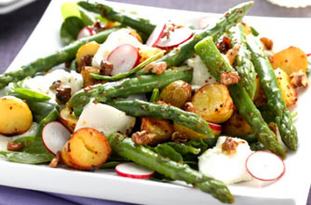 New potato & asparagus salad