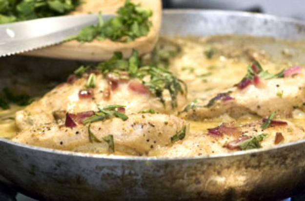 Chicken with lemon mustard and tarragon