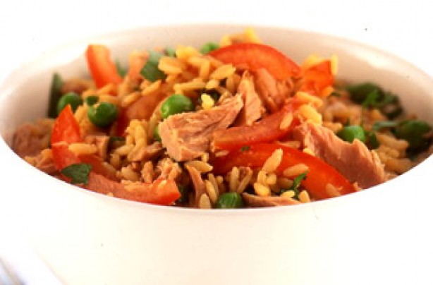 Tuna rice stir-fry