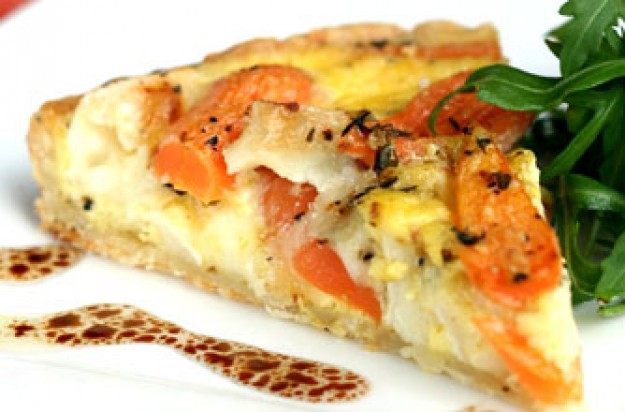 Carrot and goat's cheese tart