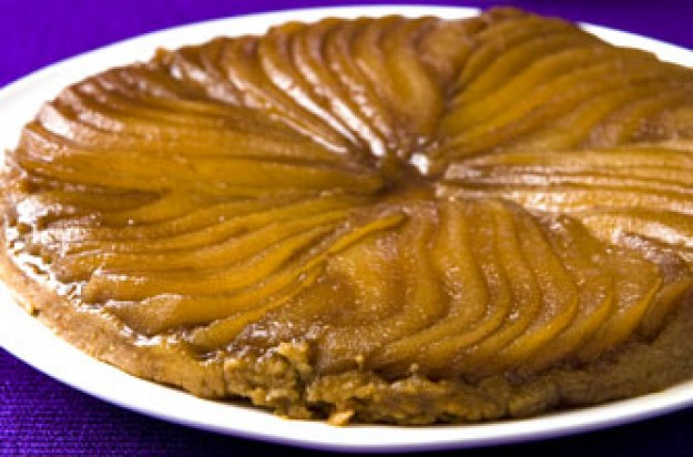 Caramelised pear tart