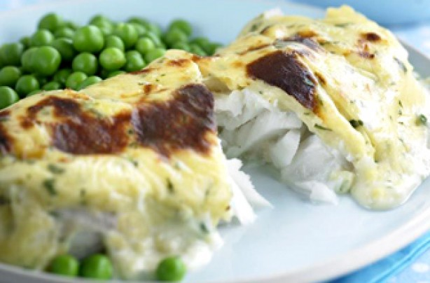 Creamy cod rarebit with Edam recipe