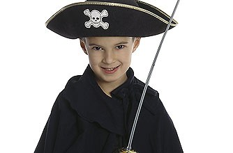 Boy dressed up as a pirate