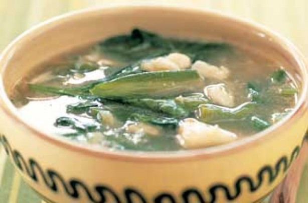 Callaloo (crab and spinach) soup