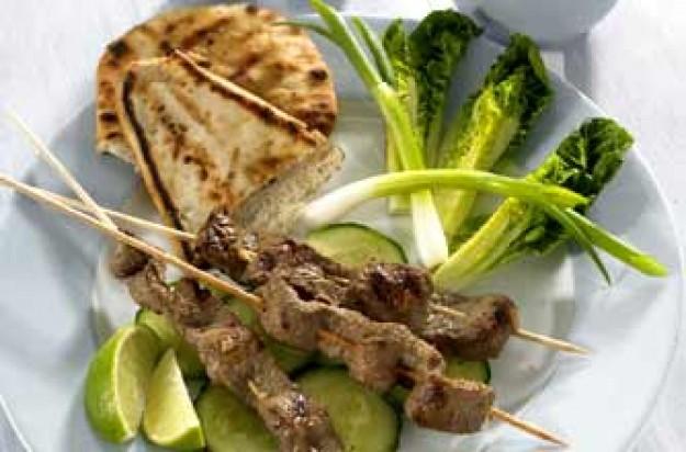 Beef satay salad