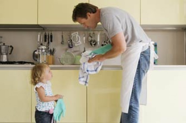 Man doing the housework and looking after baby_jupiter unlim