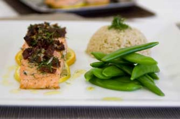 Citrus-baked salmon recipe