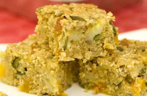 Banana and three-seed energy bars