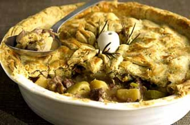 Lamb, leek and potato pie with rosemary pastry