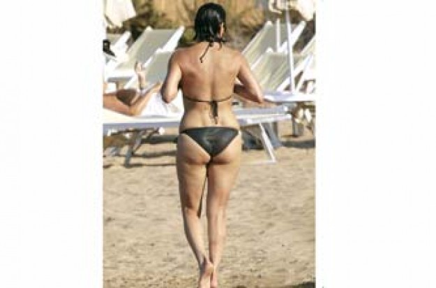 Which celeb's bottom is this?