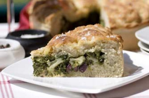 Gino D'Acampo's stuffed focaccia with spinach, olives and mozzarella