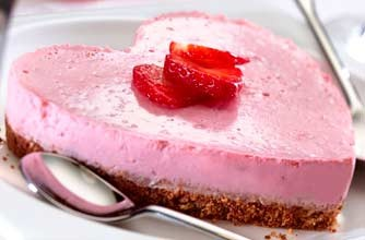 Strawberry Yogurt Cheesecake Valentines Day dessert